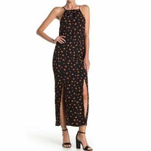 Velvet Torch Floral Halter Neck Dress